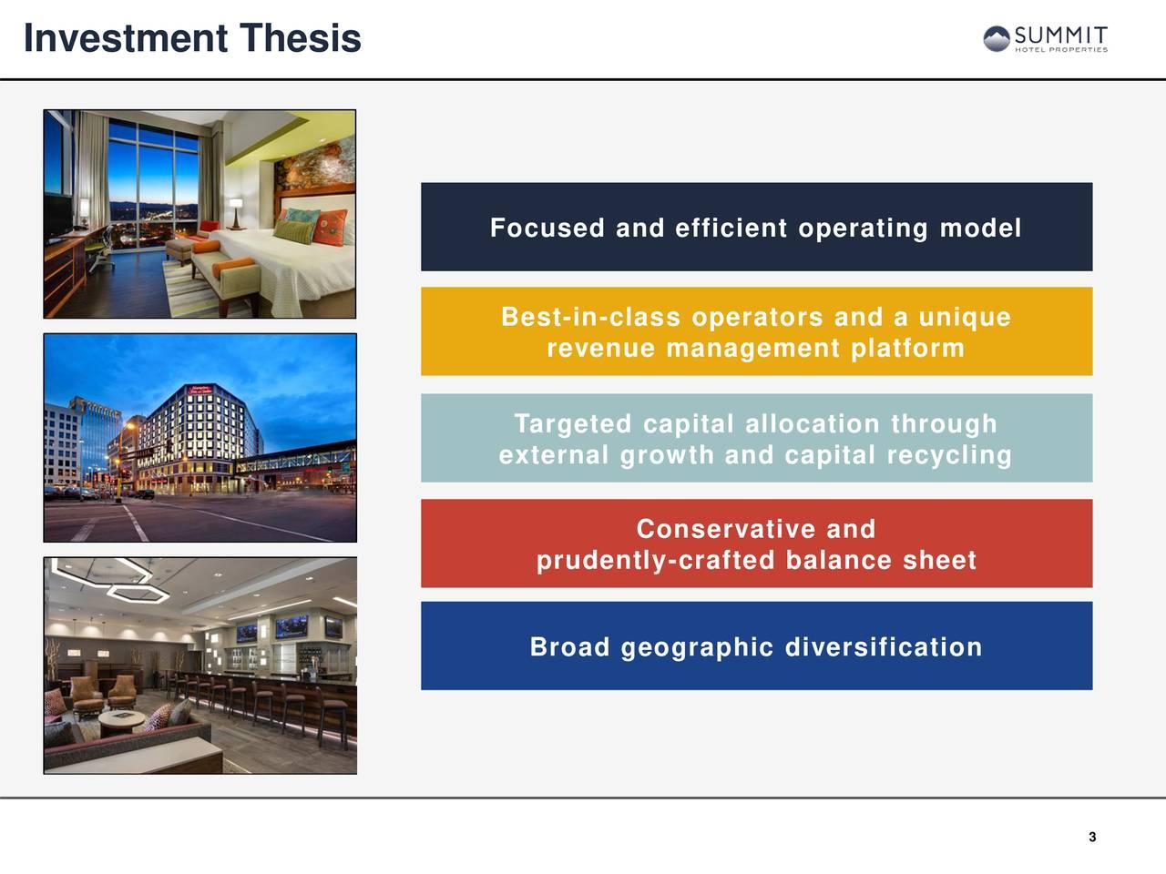 Summit Hotel Properties (INN) Investor Presentation