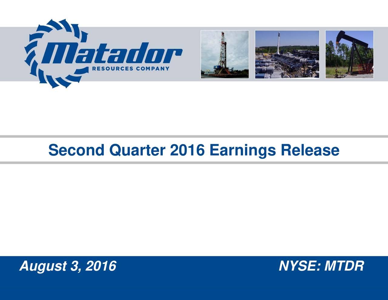 Second Quarter 2016 Earnings Release August 3, 2016
