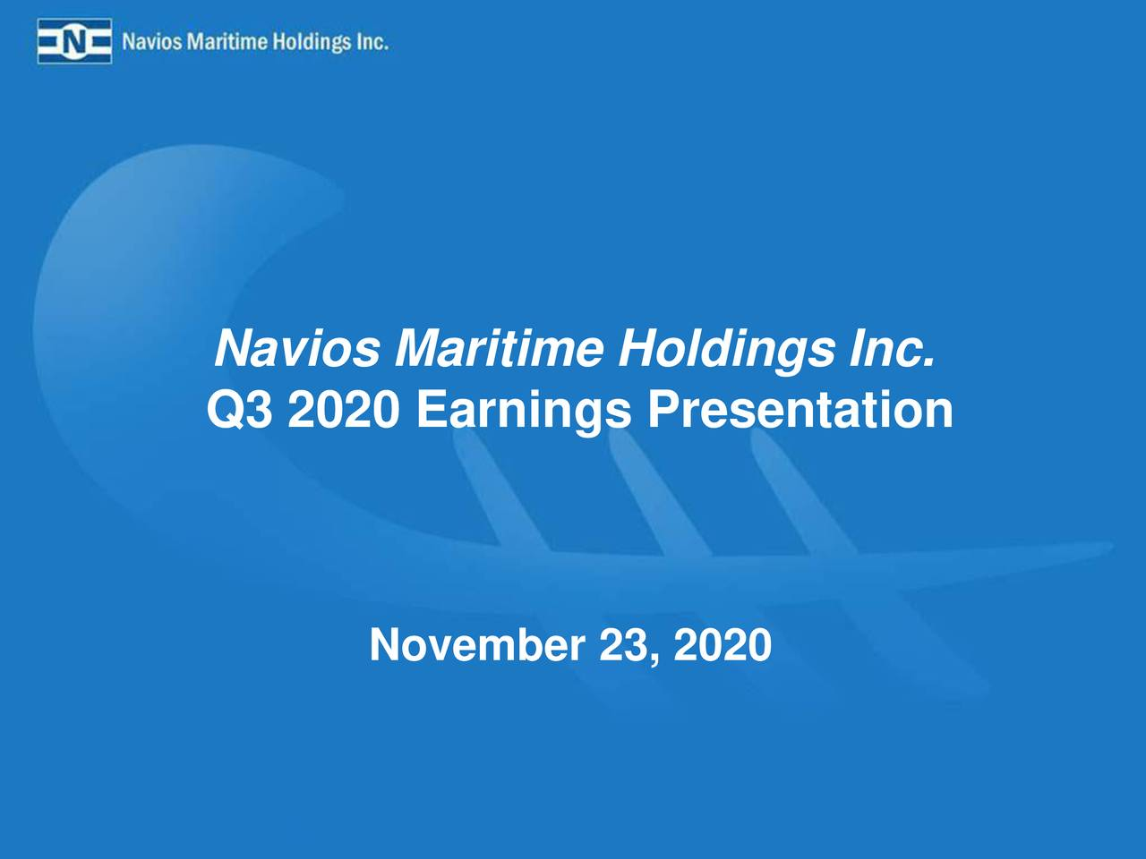 Navios Maritime Holdings Inc. 2020 Q3 - Results - Earnings Call Presentation (NYSE:NM)