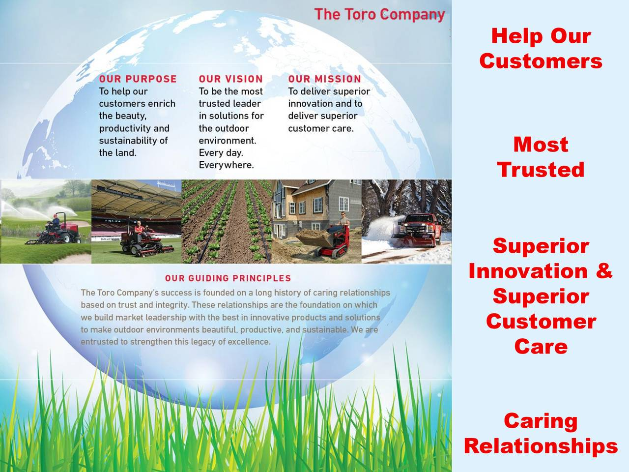 Customers Most Trusted Superior Innovation & Superior Customer Care Caring Relationships