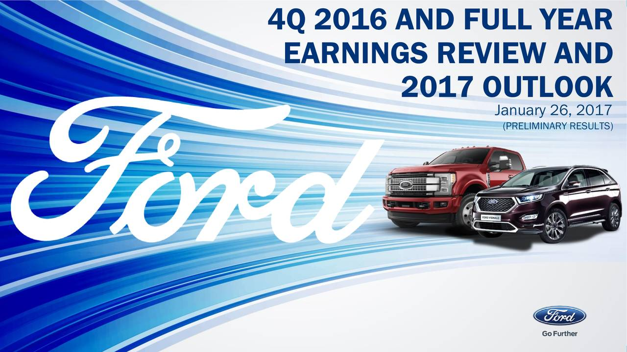 Ford Motor Company 2016 Q4 - Results - Earnings Call ...