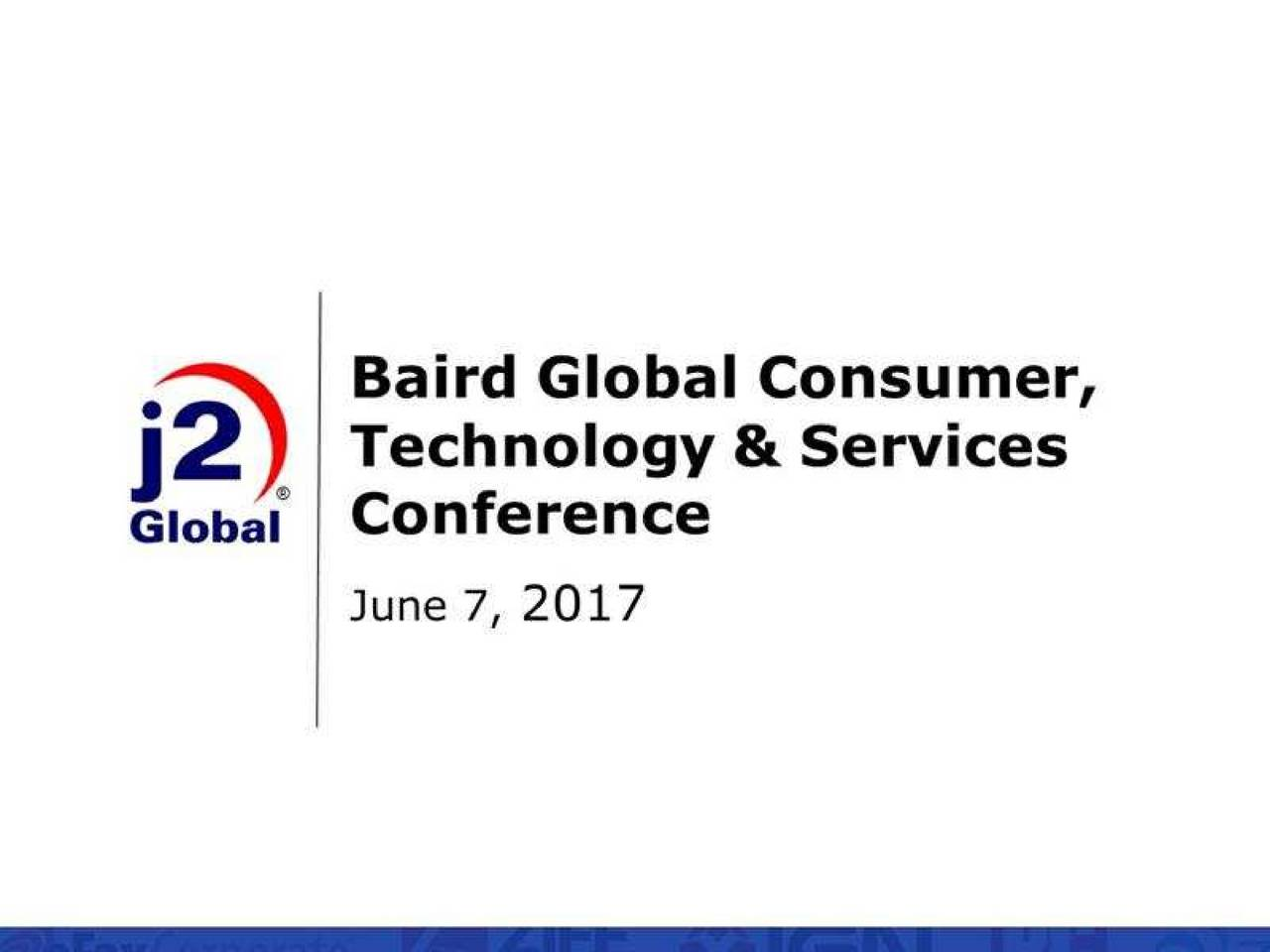 j2 Global (JCOM) Presents At Baird's Global Consumer
