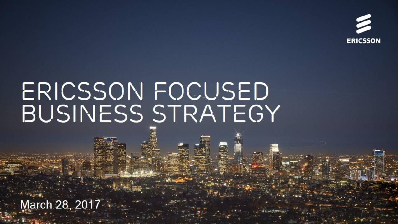 LM Ericsson Telephone Company (ERIC) Investor Presentation