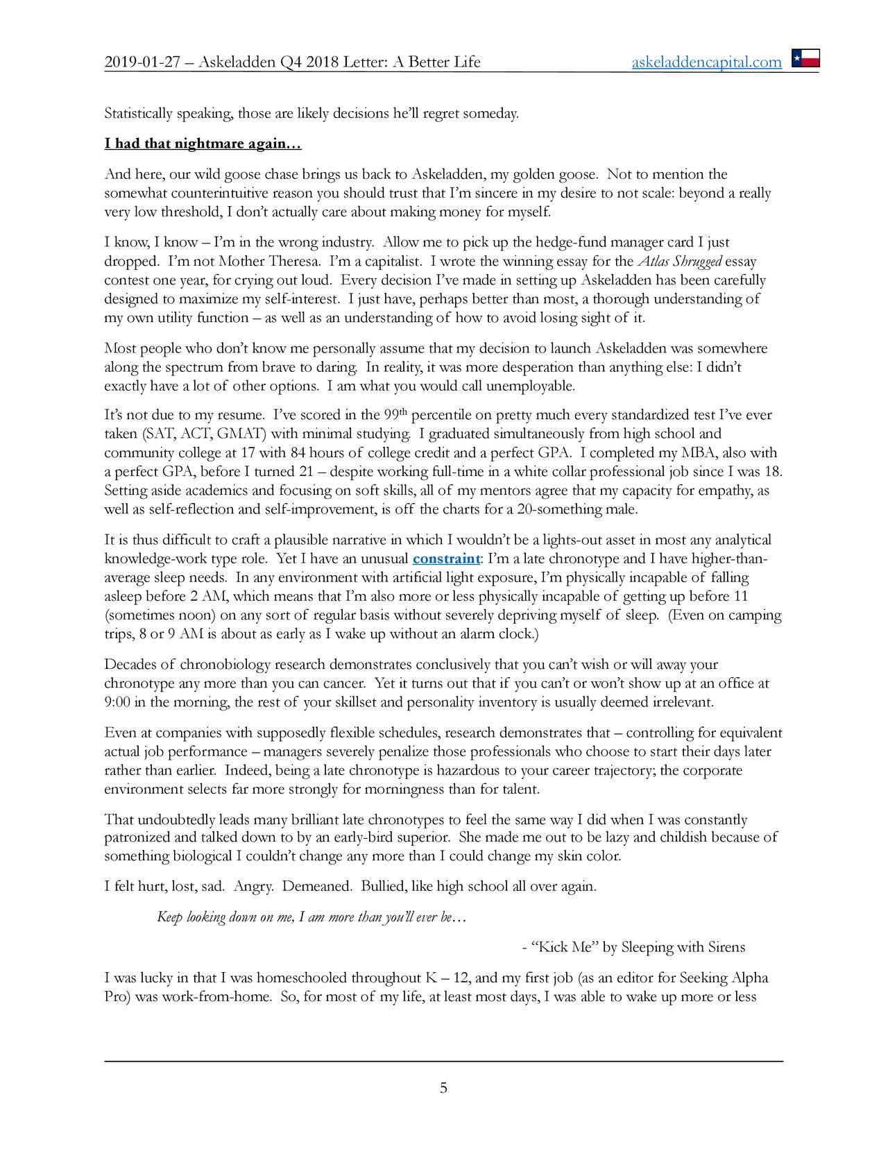 Askeladden Q4 2018 Letter A Better Life Seeking Alpha