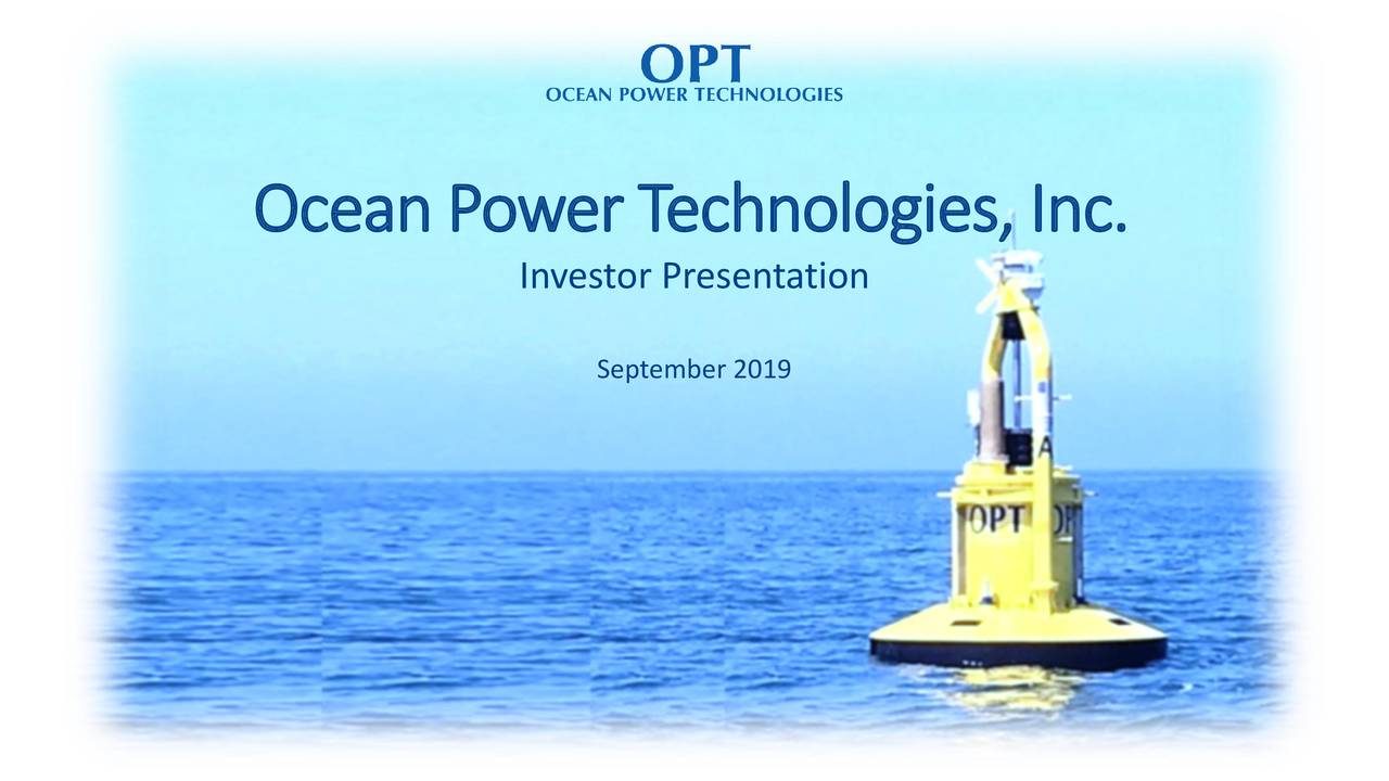 Ocean Power Technologies (OPTT) Investor Presentation - Slideshow