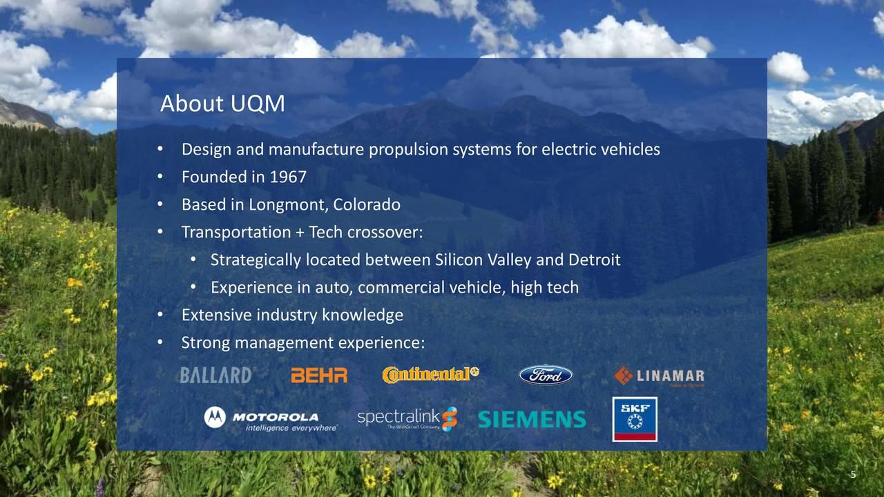 Uqm Technologies Uqm Presents At Eti Alphadirect Virtual