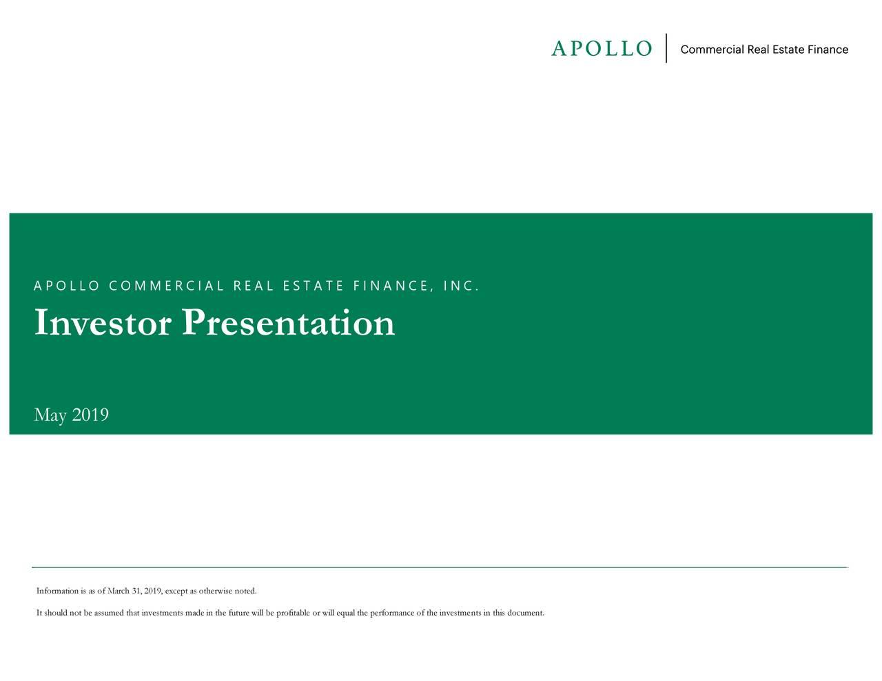 Apollo Commercial Real Estate Finance (ARI) Investor Presentation - Slideshow