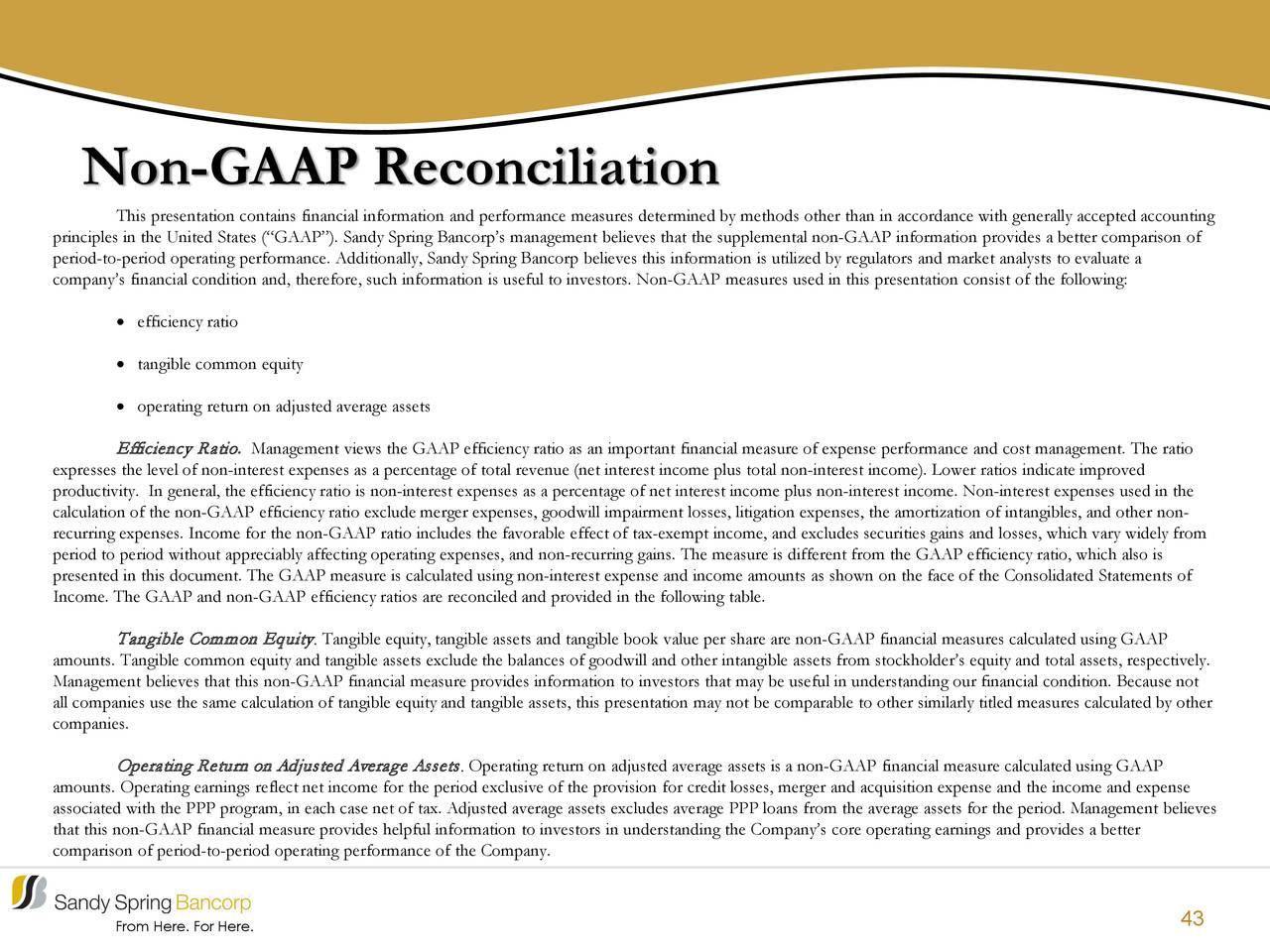 Conciliación no GAAP