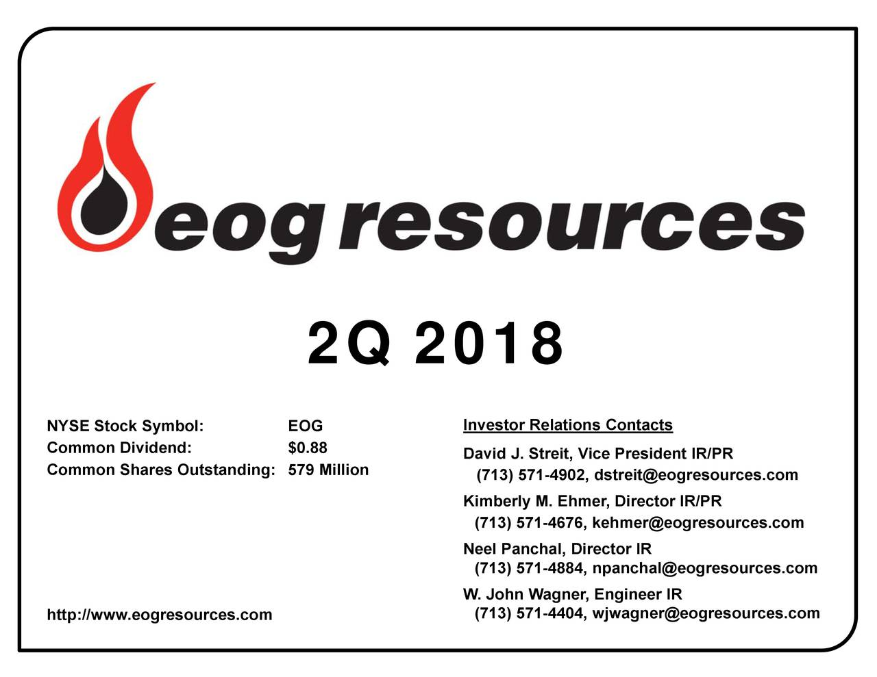 InvestviRe.SirnleMinW. John Wagner, Engineer IR 2Q 2018 NYCSoCStockDymibold: Ohtttn/dngGe.88esoilces.com