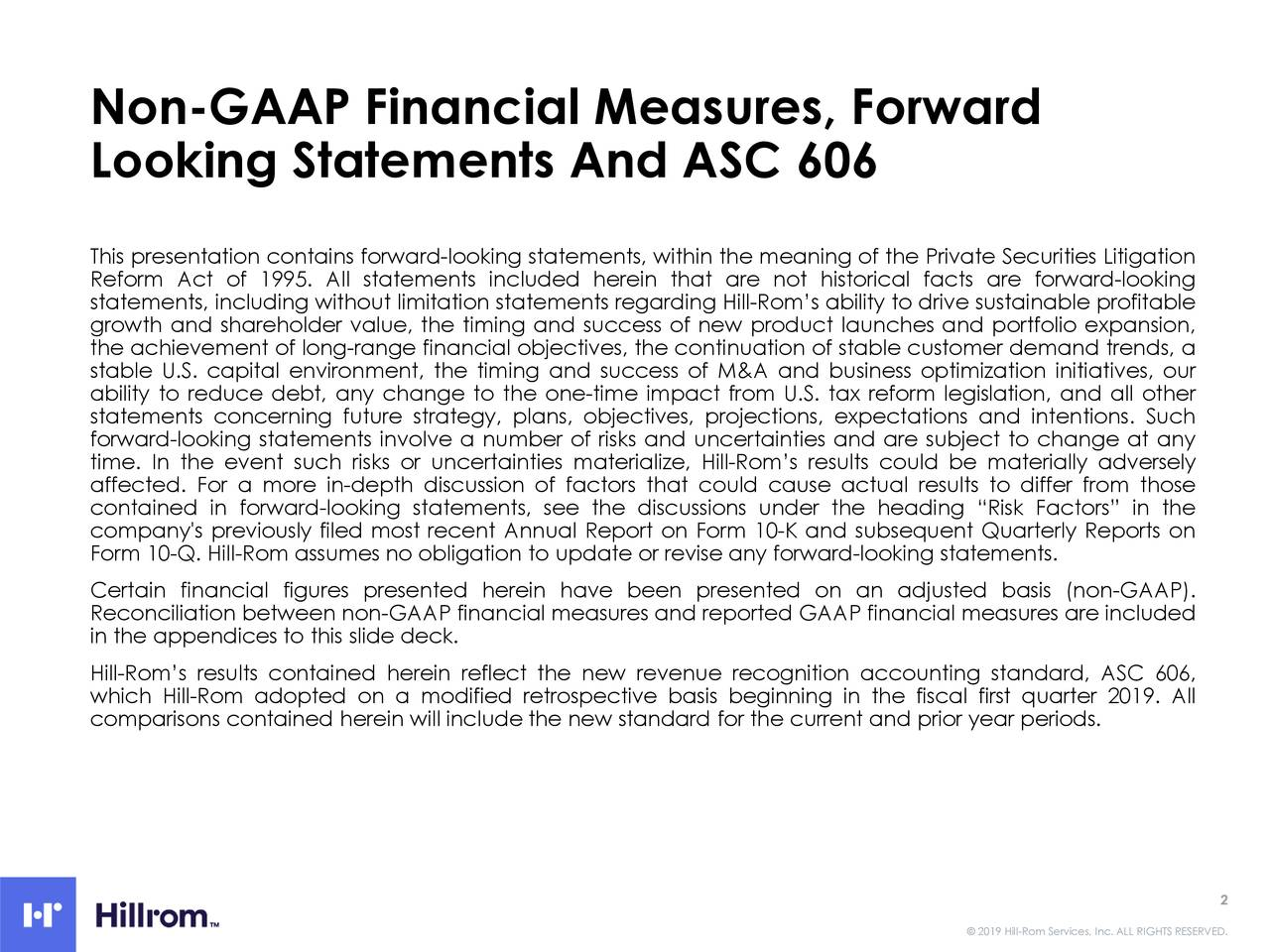 Non-GAAP Financial Measures, Forward