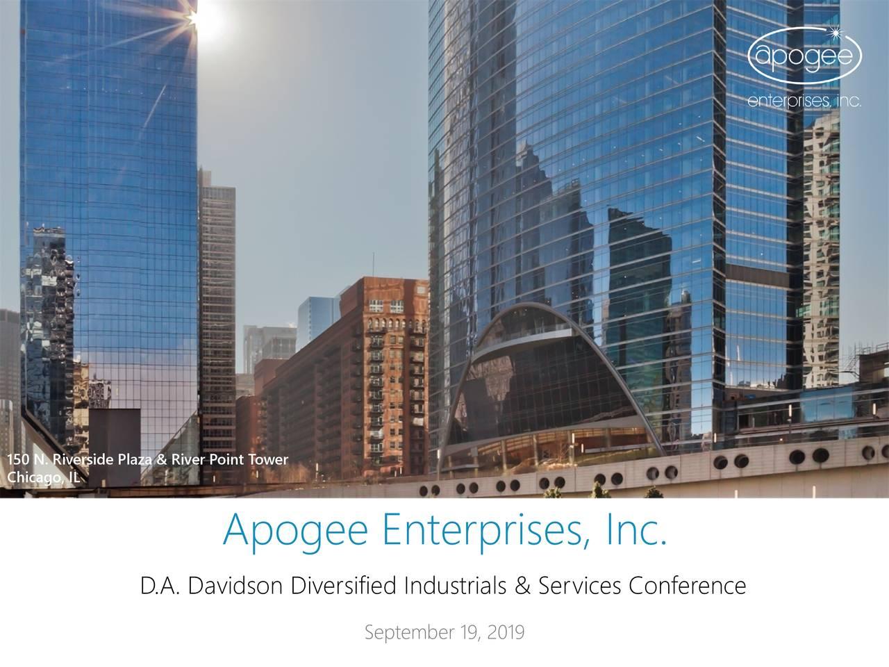 Apogee Enterprises (APOG) Presents At DA Davidson 18th Annual Diversified Industrials & Service Conference - Slideshow