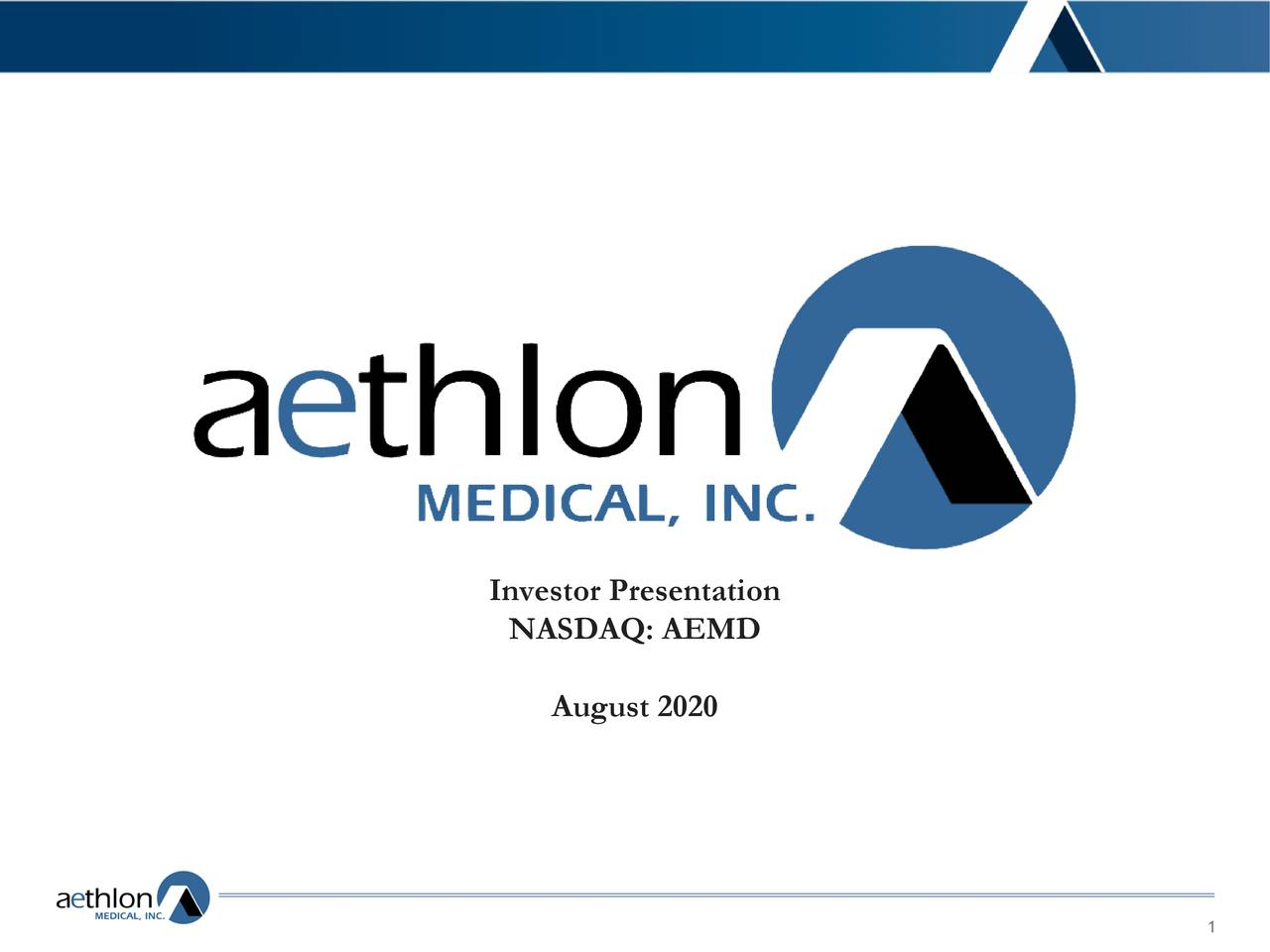 Aethlon Medical (AEMD) Investor Presentation - Slideshow