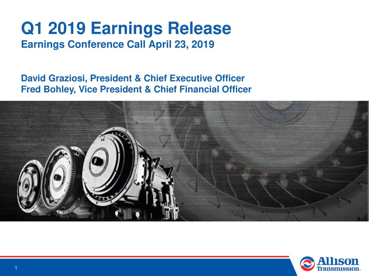 Q1 2019 Earnings Release