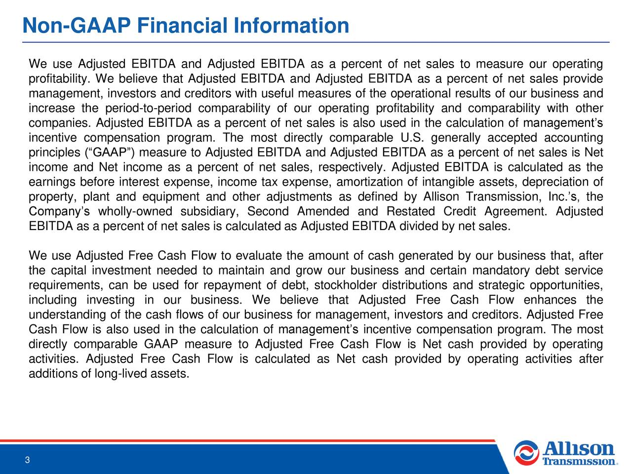 Non-GAAP Financial Information