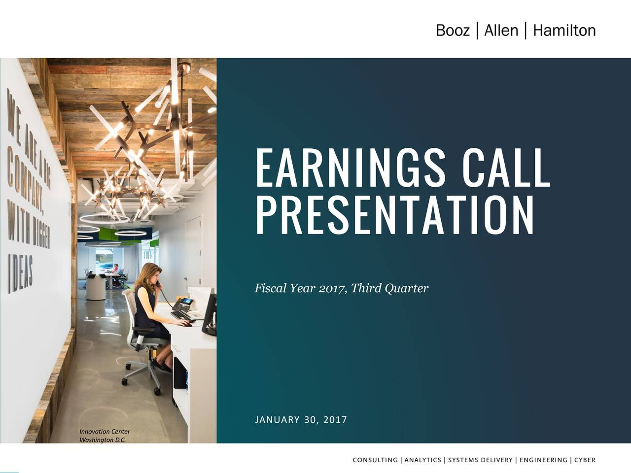 Earnings Call Slides: Booz Allen Hamilton Holding Corporation 2017 Q3