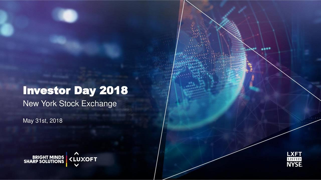 New York Stock Exchange May 31st, 2018