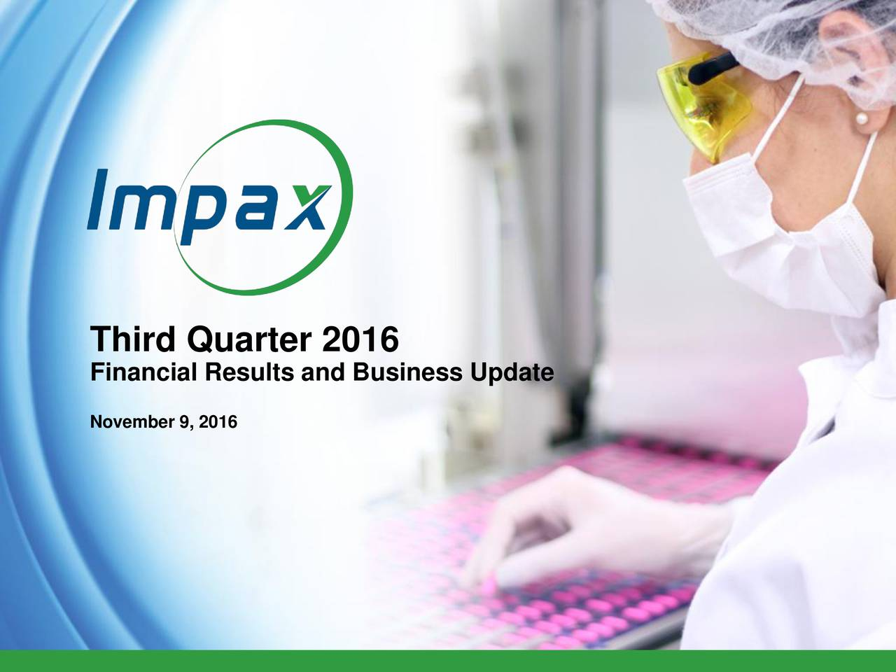 Impax Laboratories, Inc. 2016 Q3 - Results