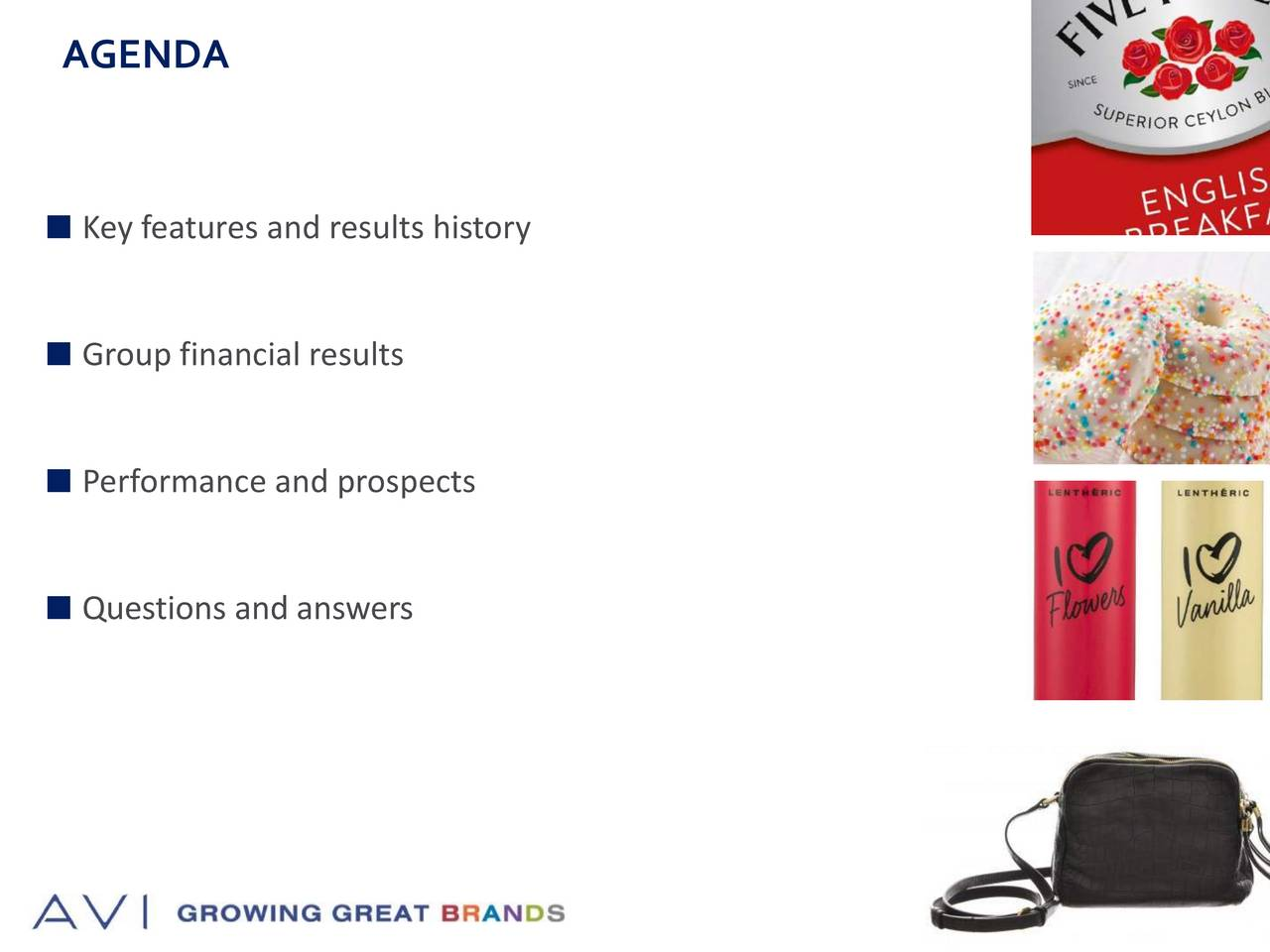 Key features and results history Group financial results Performance and prospects Questions and answers