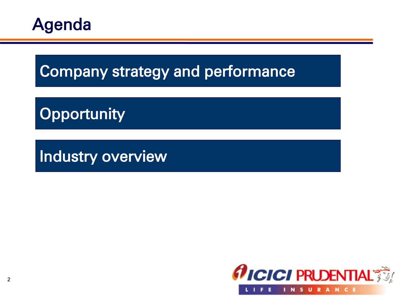 Company strategy and performance Opportunity Industry overview 2