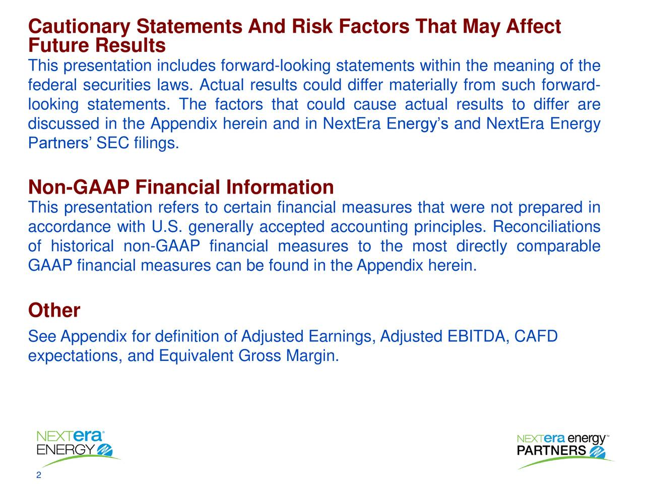Cautionary Statements And Risk Factors That May Affect