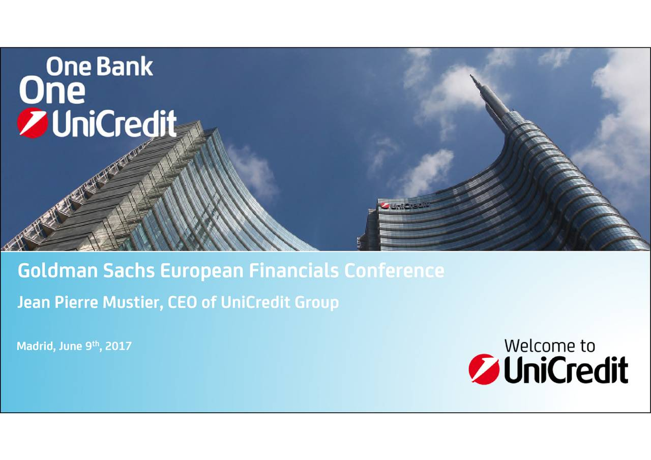 Jean Pierre Mustier, CEO of UniCredit Group Madrid, June 9 , 2017