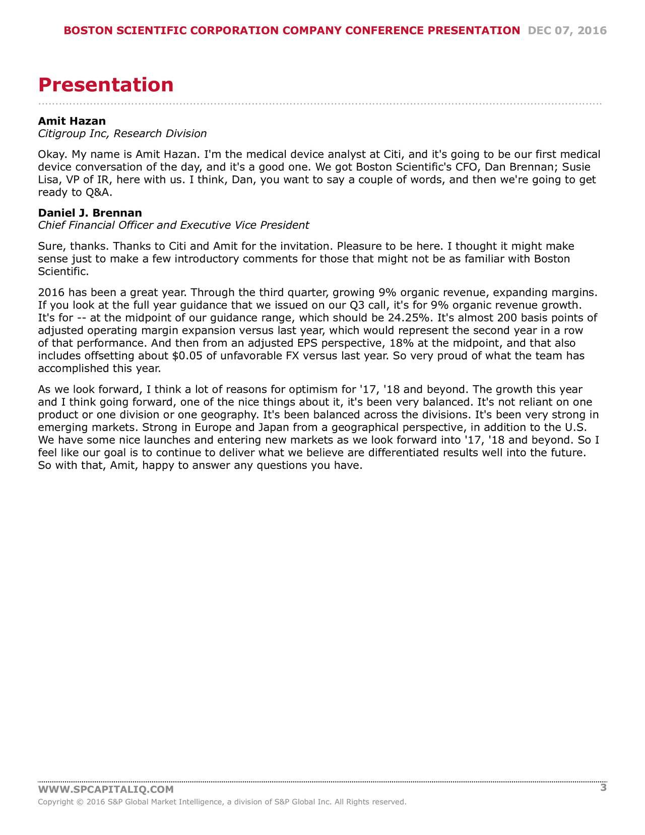 Boston Scientific (BSX) presents at Citi Global Healthcare ...