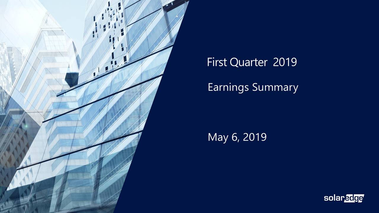 Earnings Summary May 6, 2019