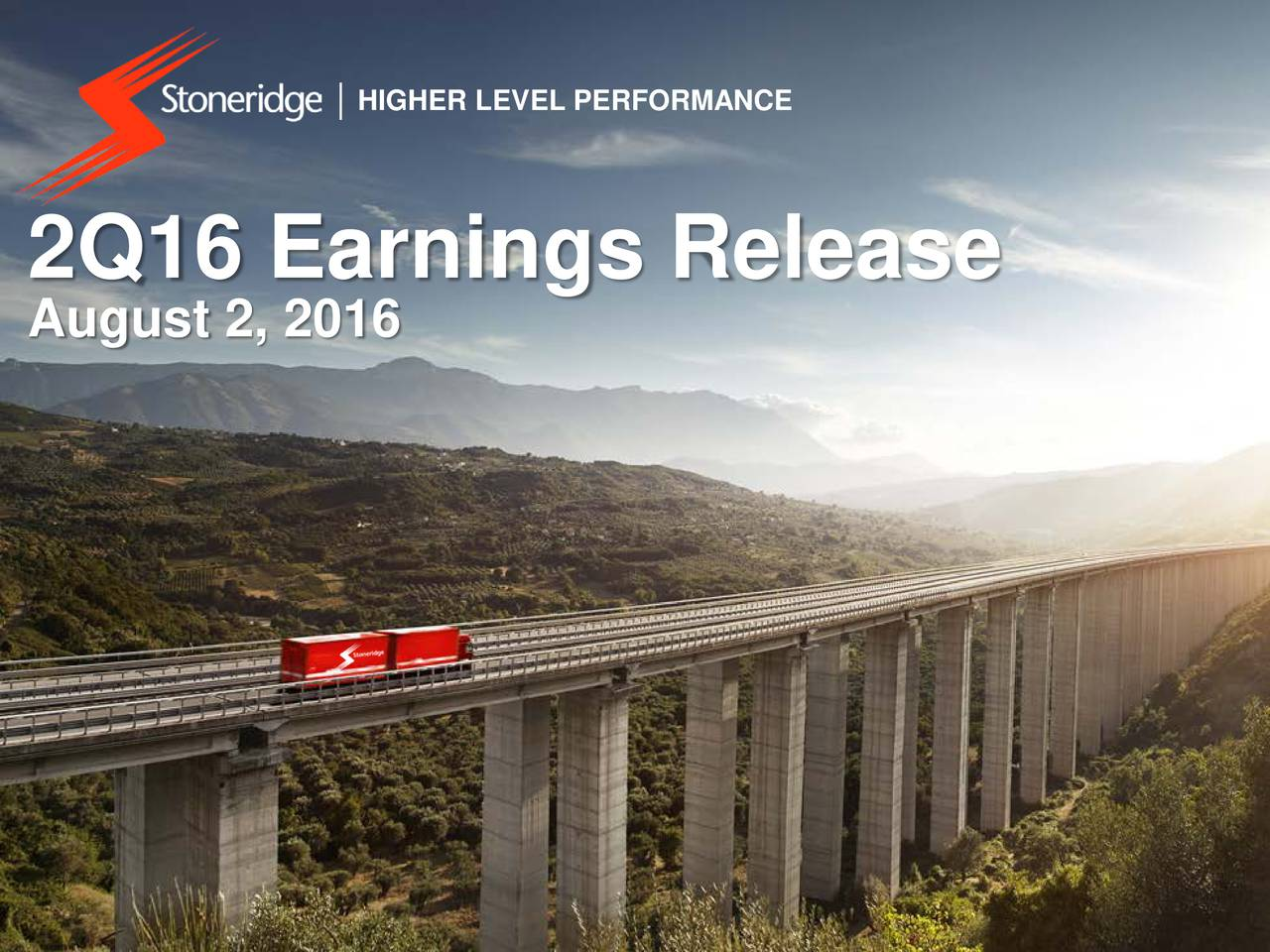 2Q16 Earnings Release August 2, 2016
