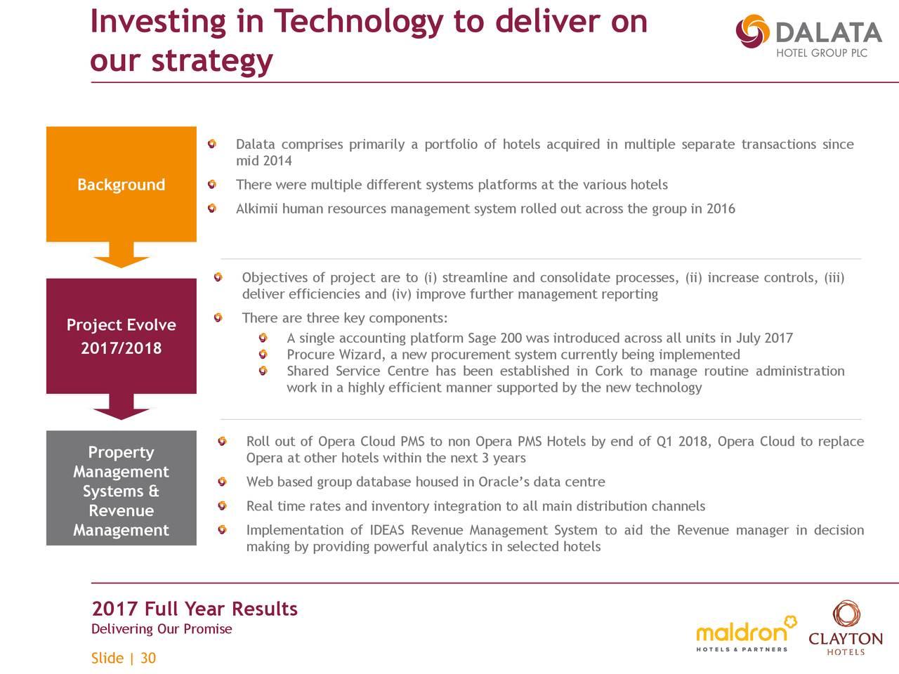 Dalata Hotel Group Plc 2017 Q4 Results Earnings Call