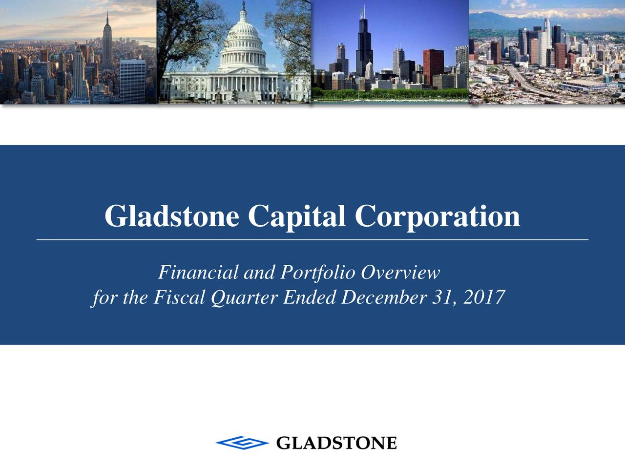 Financial and Portfolio Overview for the Fiscal Quarter Ended December 31, 2017