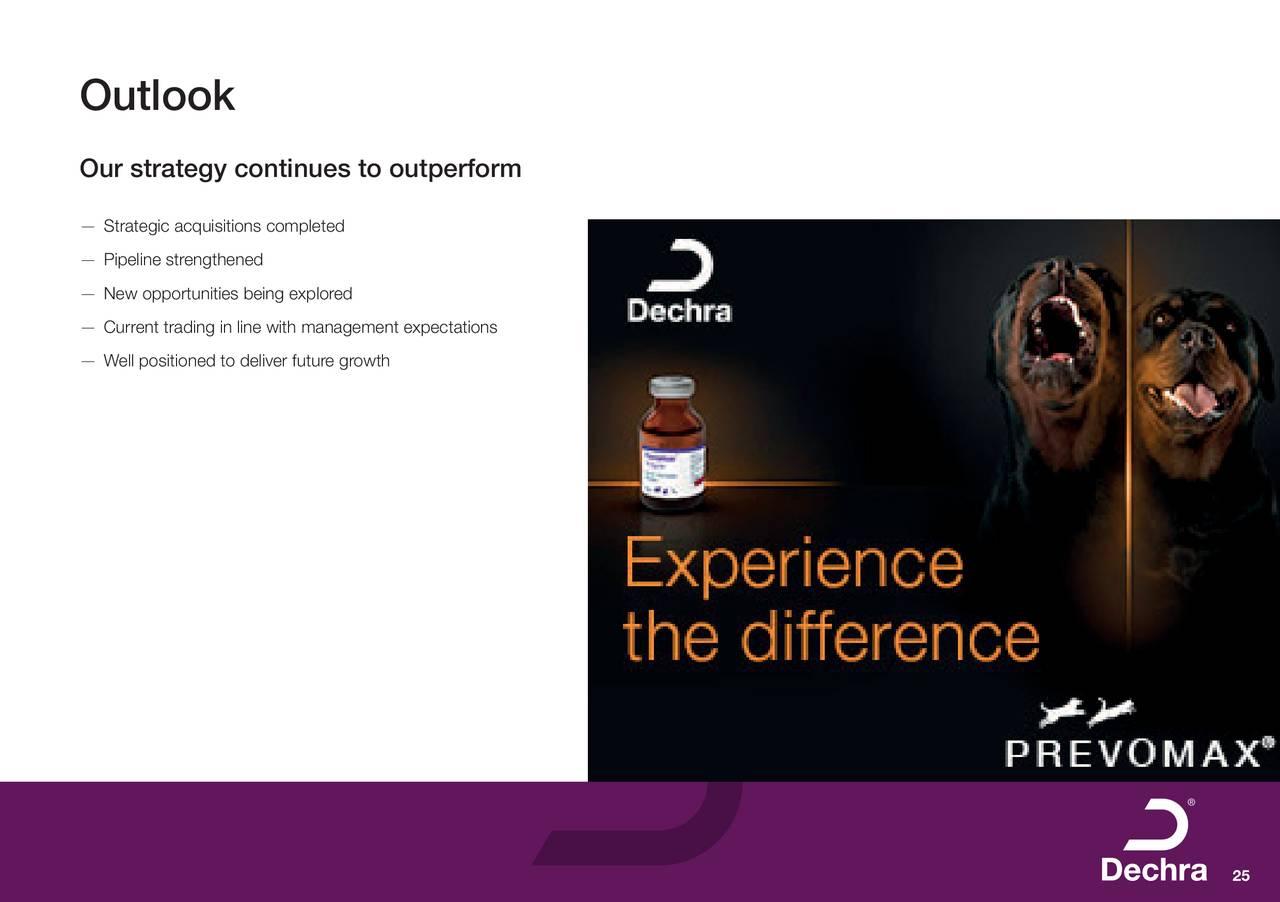 Dechra Pharmaceuticals PLC ADR 2018 Q2 - Results - Earnings