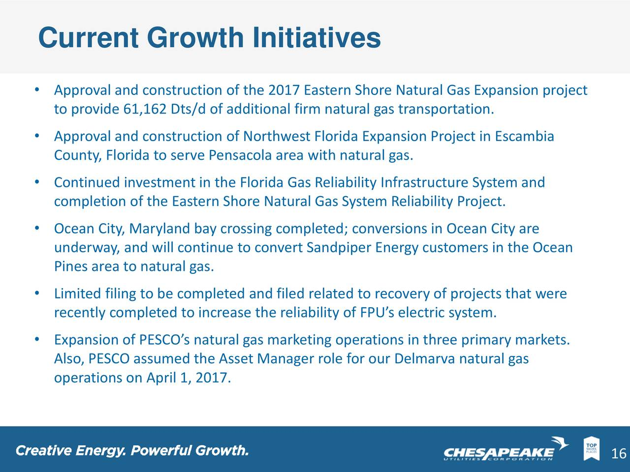Eastern Shore Natural Gas Corporation
