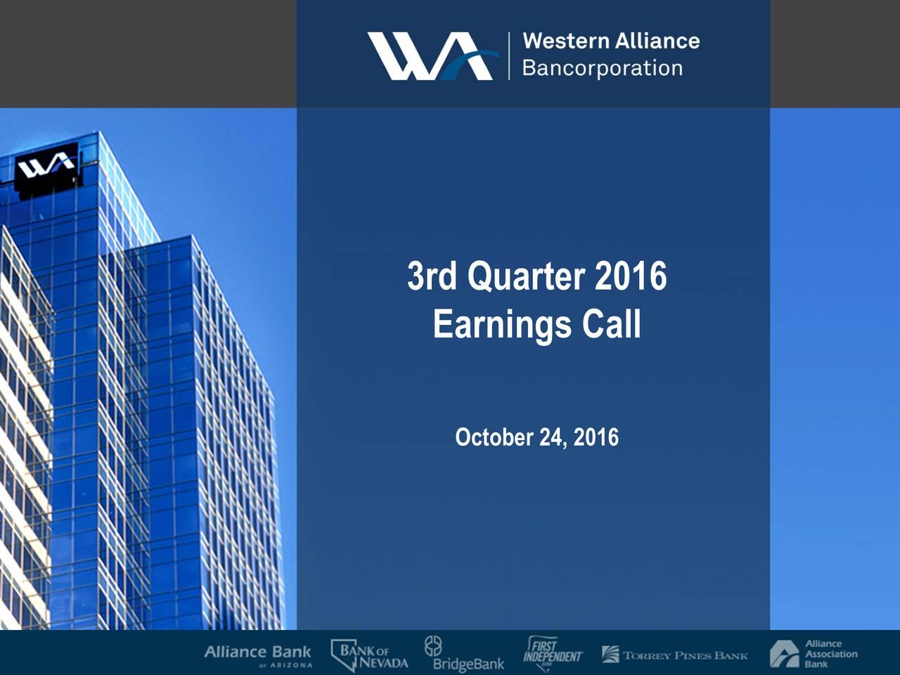 Earnings Call October24, 2016