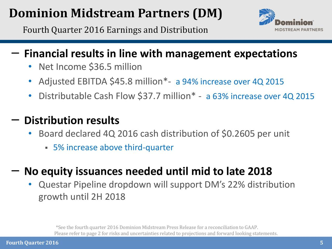 Dominion resources inc 2016 q4 results earnings call for Domon power release