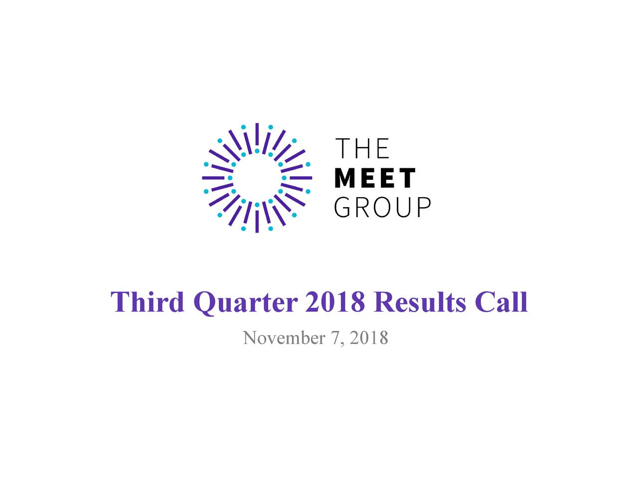 The Meet Group, Inc  2018 Q3 - Results - Earnings Call