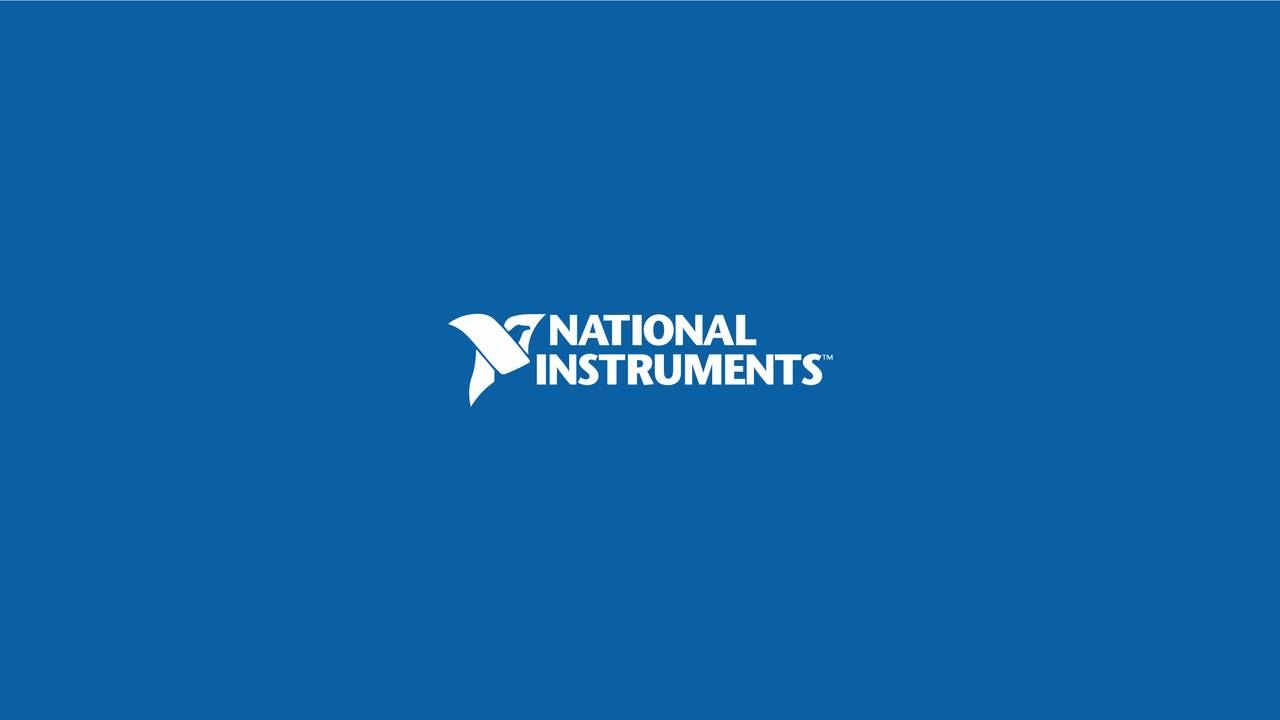 Earnings Disclaimer >> National Instruments Corporation 2017 Q3 - Results - Earnings Call Slides - National Instruments ...