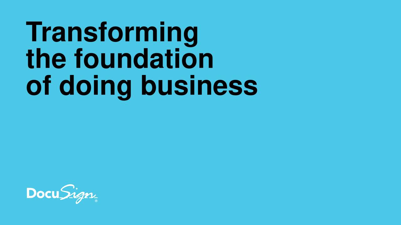 the foundation of doing business