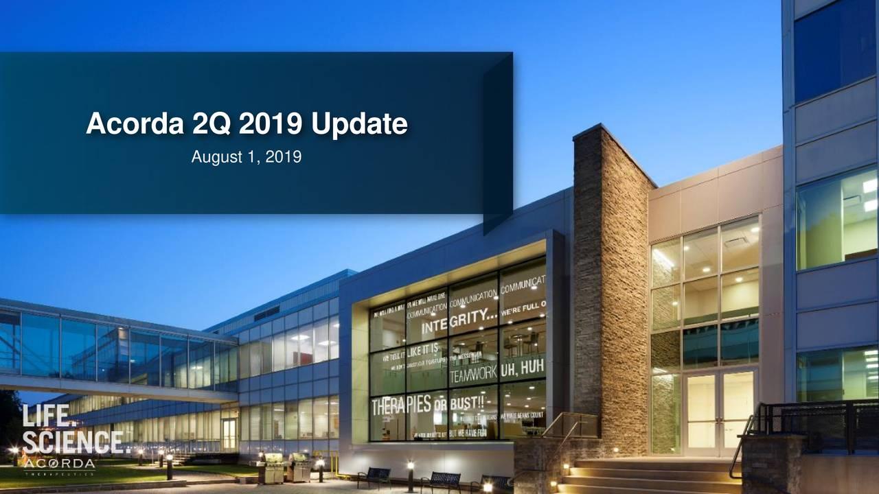 Acorda 2Q 2019 Update