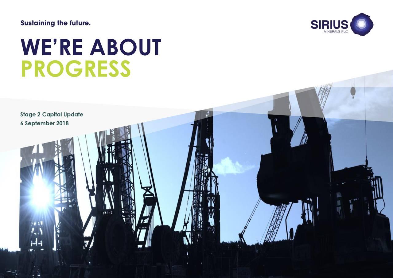 Sirius Minerals (SRUXF) Investor Presentation - Slideshow