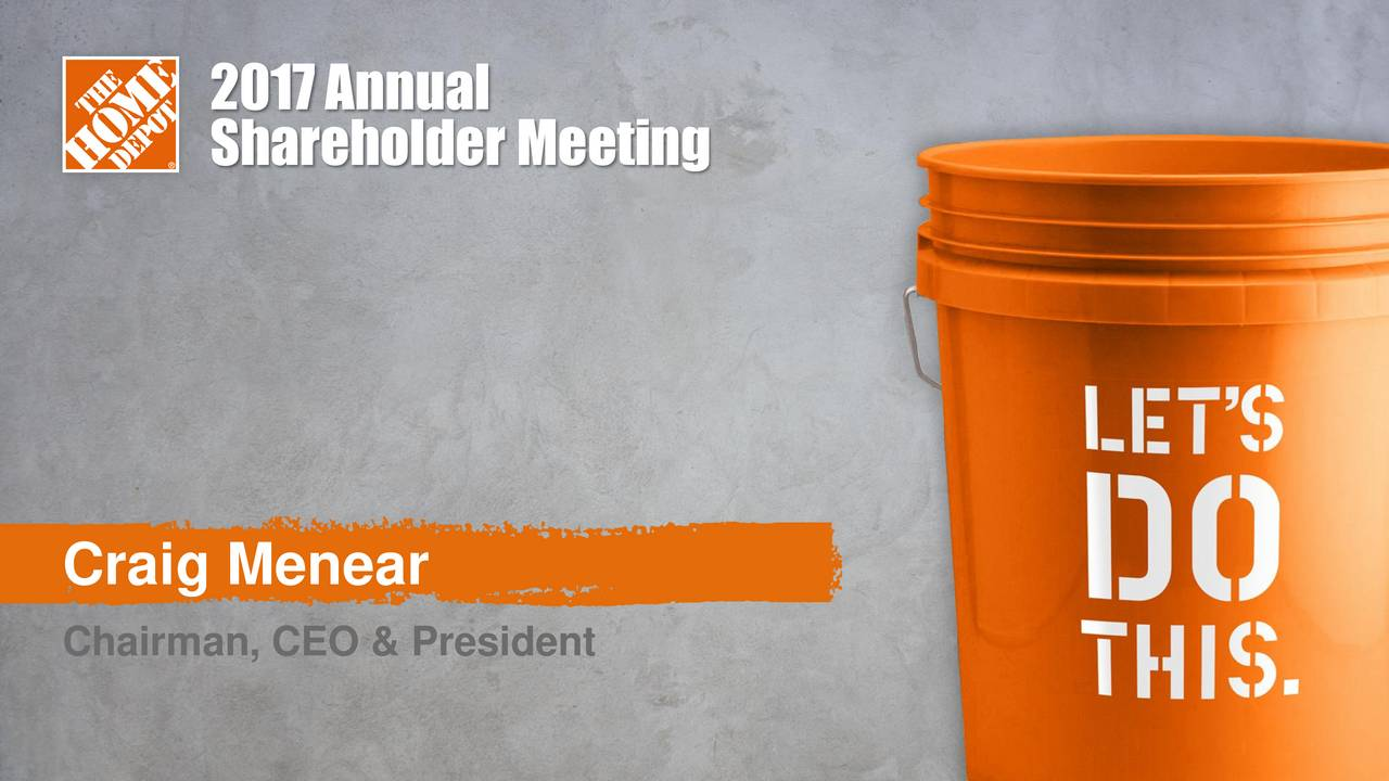 The Home Depot Craig Menear Chairman Ceo And President