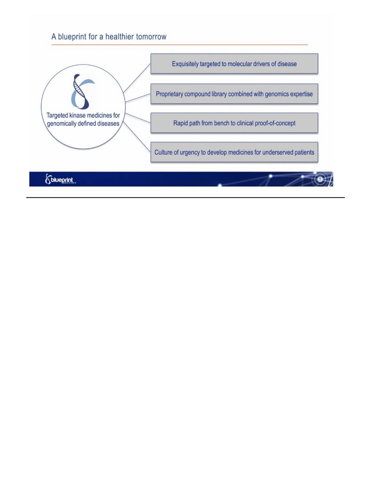 Blueprint medicines bpmc investor presentation slideshow blueprint medicines bpmc investor presentation slideshow malvernweather Choice Image