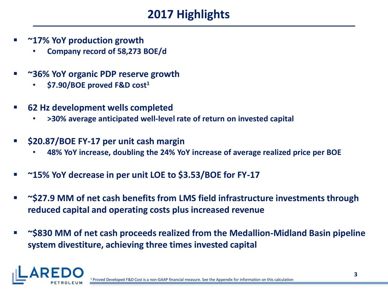 Laredo Petroleum Holdings Inc 2017 Q4 Results