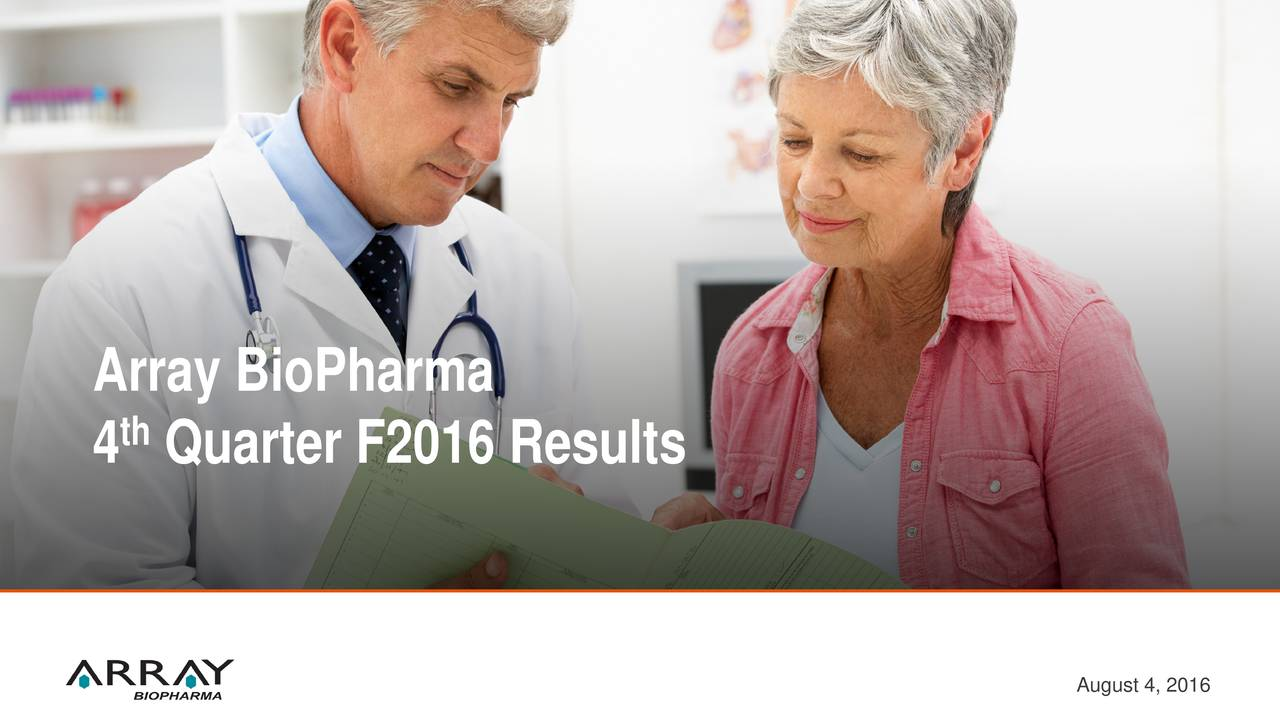 4 Quarter F2016 Results August 4, 2016
