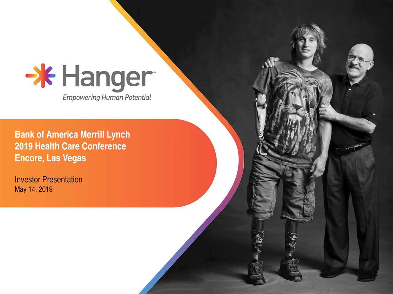 Hanger (HNGR) Presents At BAML 2019 Health Care Conference - Slideshow