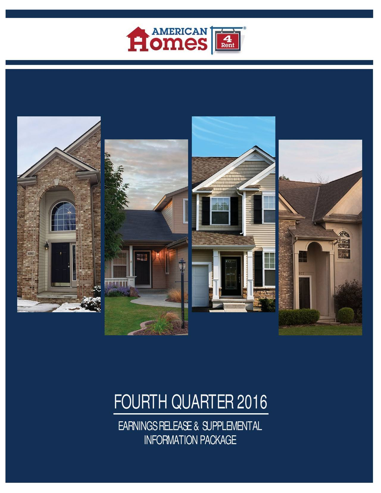 American homes 4 rent 2016 q4 results earnings call for American homes for rent