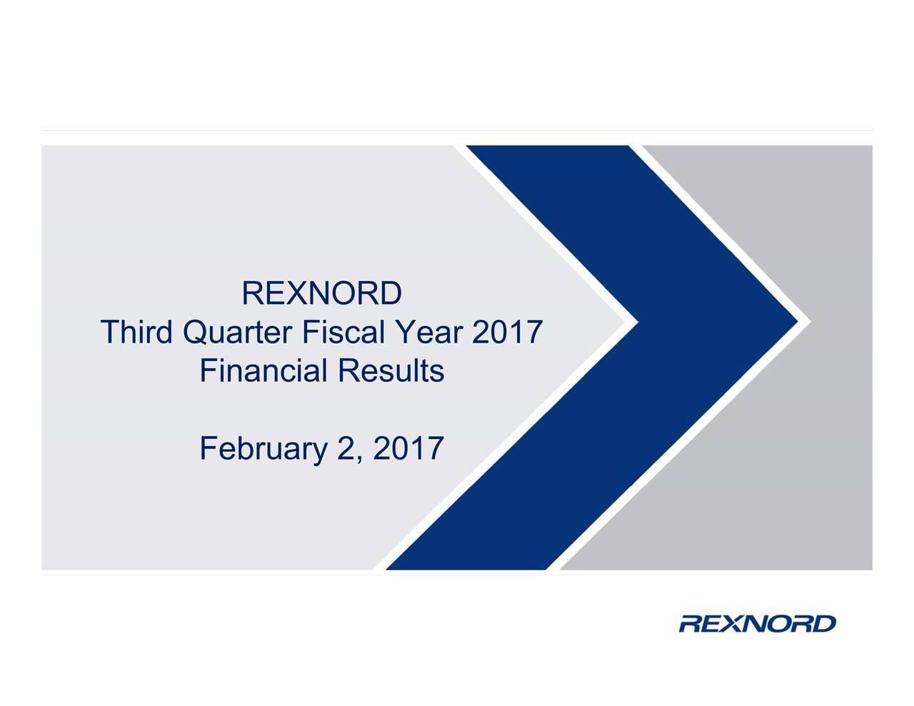 Financial Results017 Third Quarter Fiscal Year 2017