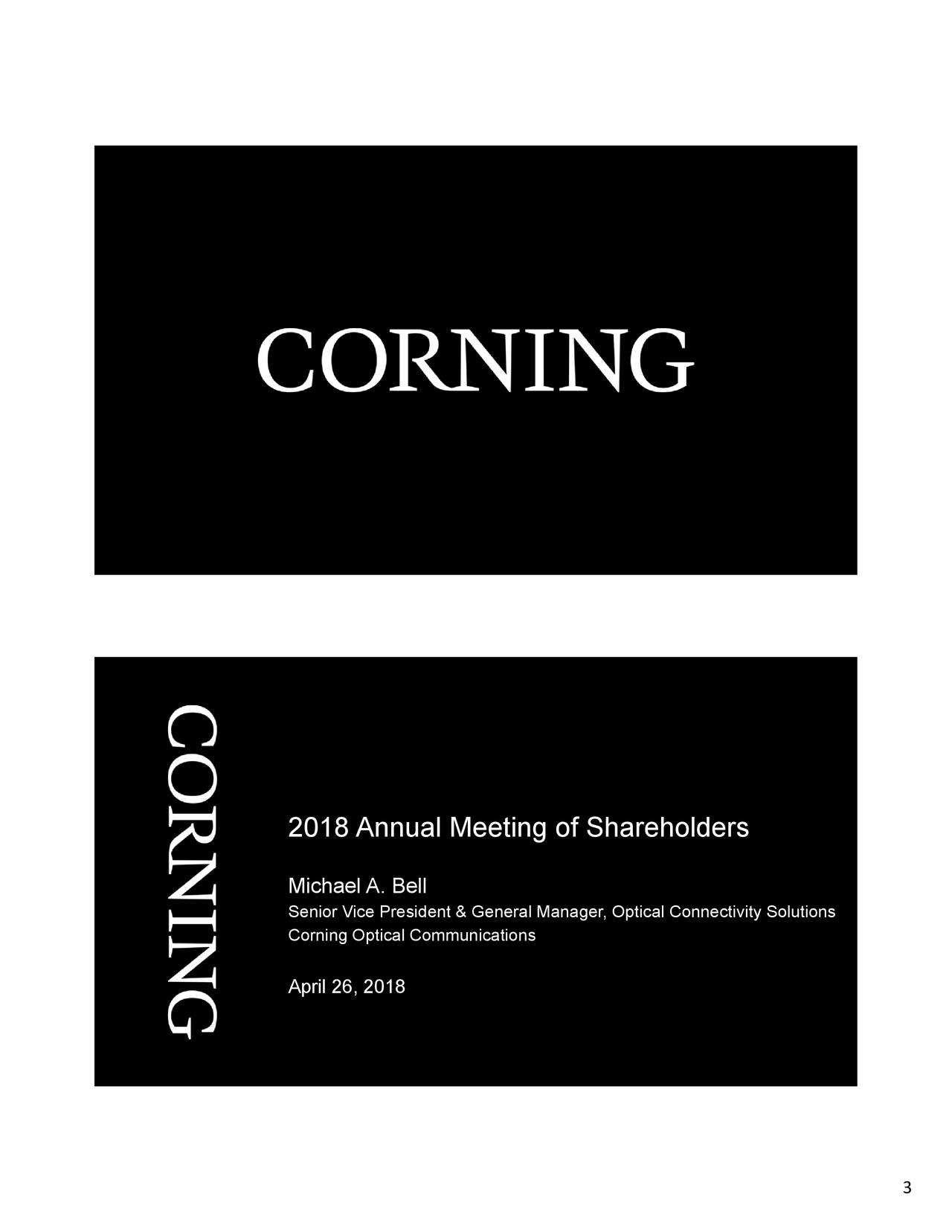 corning presentation Read corning's latest news and learn about upcoming events.