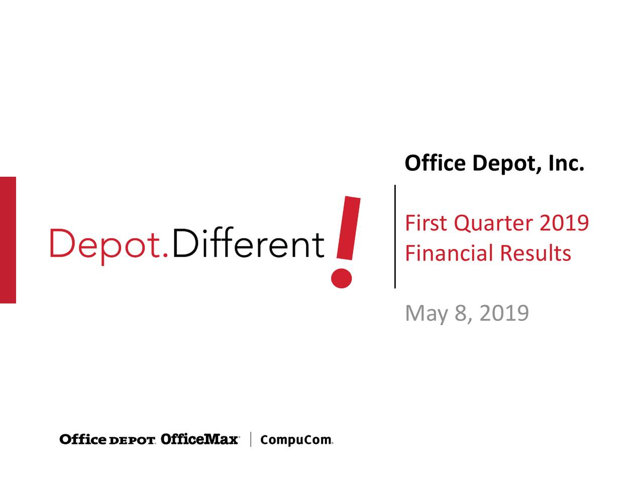 First Quarter 2019 Financial Results May 8, 2019