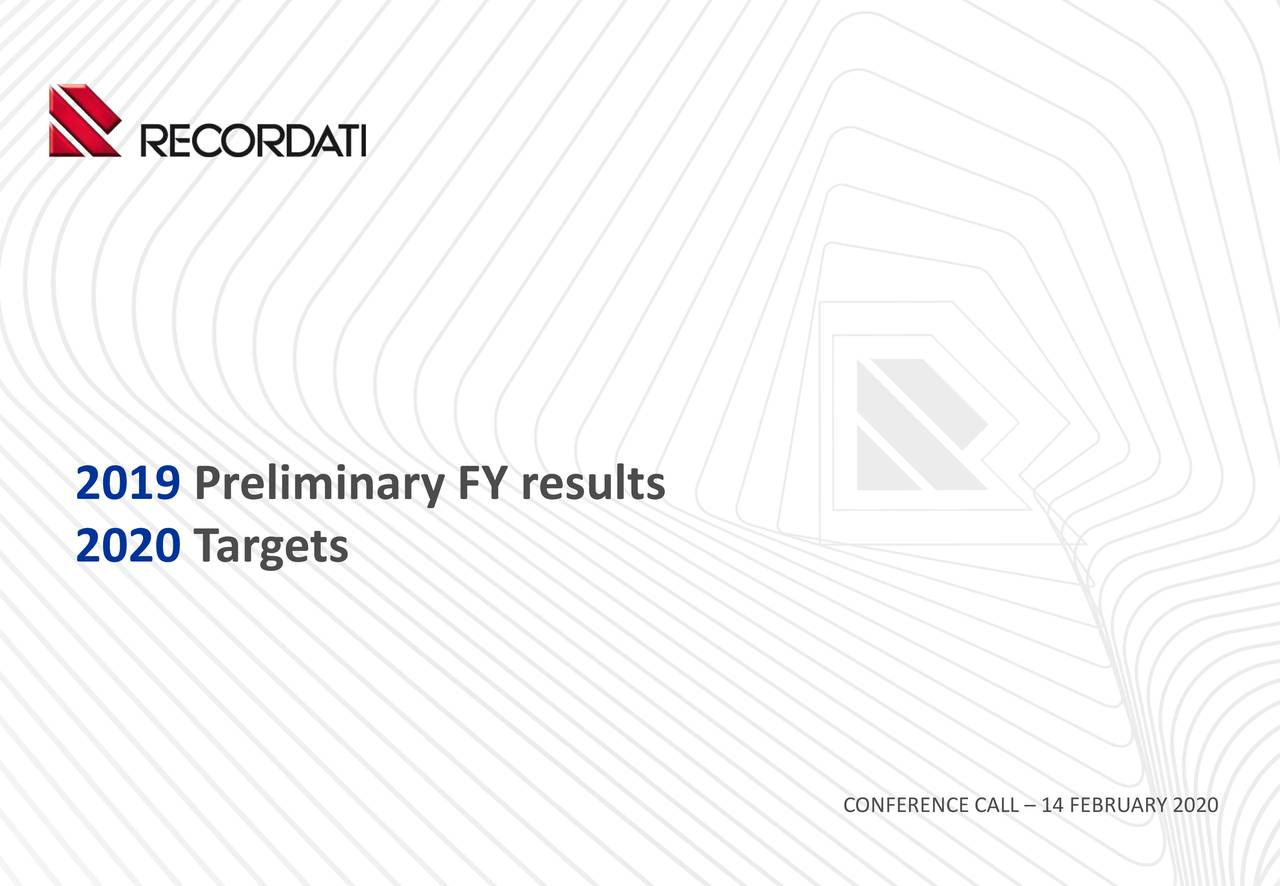 2019 Preliminary FY results
