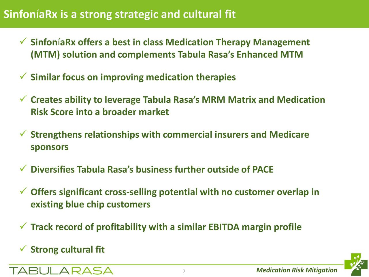 tabula rasa healthcare (trhc) presents at 2017 wells fargo